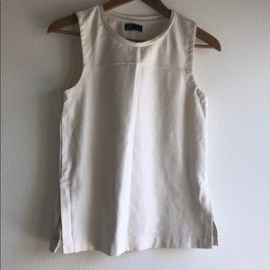 GAP Thick High Crew Neck SideZip Sleeveless Blouse